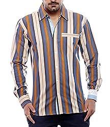 Moksh Men's Striped Casual Shirt V2IMS0414-228 (Medium)