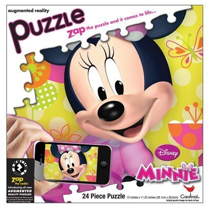 Disney Minnie Augmented Reality 24 Piece Puzzle by Cardinal Industries - 1