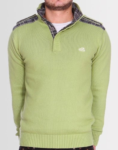 Kear and Ku Mens Knitted Pistachio Jumper : Green Pistachio - L
