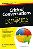img - for Critical Conversations For Dummies (For Dummies (Business & Personal Finance)) book / textbook / text book