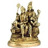 Redbag Lord Shiv With Parvati & Ganesh Brass Statue 2948B