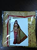 Zofey Fashion Womens Brasso Saree(Brasso_Red)