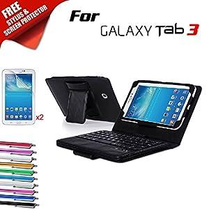 Kool(TM) Samsung Galaxy Tab 3 Leather Bluetooth Keyboard Cover Folio Case Flip Stand [Detachable Wireless Keyboard] (Samsung Galaxy Tab 3 7.0 inch 7  P3200 P3210 T210 T211 Bluetooth Keyboard, Black)Customer review