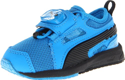 Puma Bolt Evospeedometer Lighted Running Shoe (toddler/Little Kid/big Kid),Blue Aster/Blue Aster/Black,8 M US Toddler