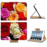 Apple iPad Mini 1st Generation Flip Case Colorful roses bouquet beautiful floral background 38710090 by Liili Customized Premium Deluxe Pu Leather Cover