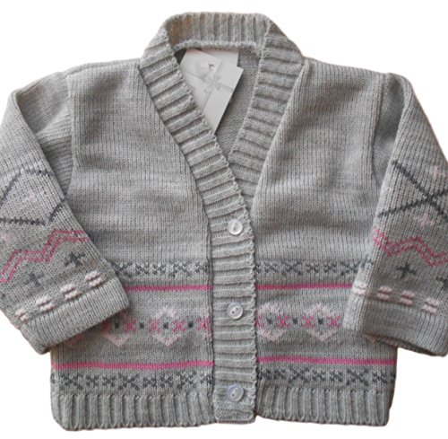 0-3-months-Baby-Girls-Gorgeous-Grey-and-Pink-Knitted-Cardigan