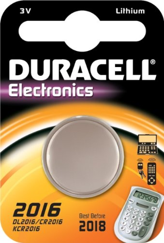 "DURACELL Blister 1 pile bouton lithium ""Electronics"" CR2016"
