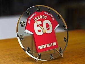 Nottingham Forest F.C - PERSONALISED Acrylic Clock