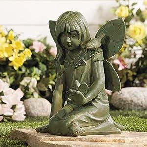 Garden fairy statue garden accents garden outdoors - Large garden fairy statues ...