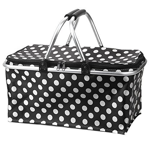 Learn More About Picnic Basket Bag, Iwotou Insulated Folding Cooler Picnic Basket Bag (black)