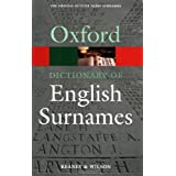 A Dictionary of English Surnames (Oxford Paperback Reference)by Reaney