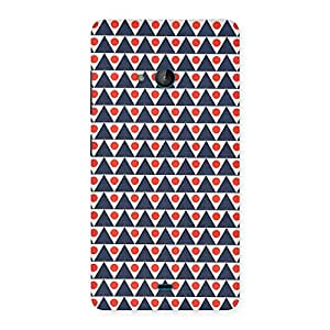 Inverted Triangle Print Back Case Cover for Lumia 540