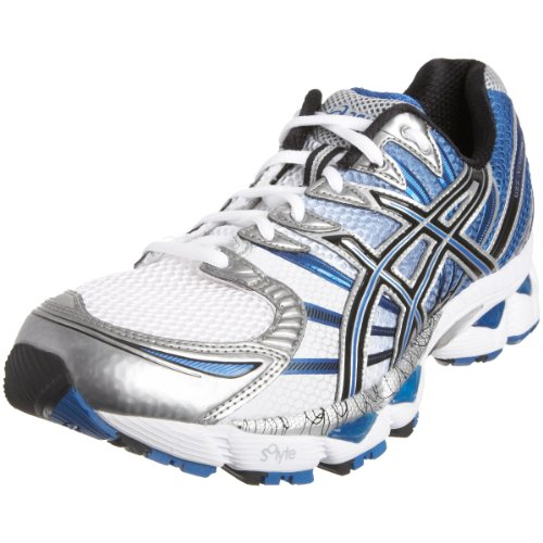 Asics Men's Gel Nimbus 12 (4E) Running Shoe White/Onyx/Royal T047N0199 14 UK