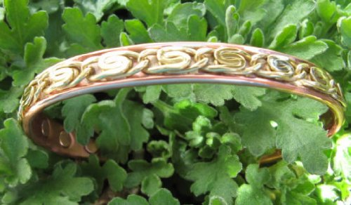 Men's Solid Copper 8 Inch Magnetic Cuff Bracelet #836