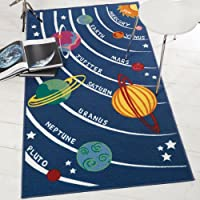 Flair Rugs Matrix Kiddy Planets Rug, Multi, 100 x 190 Cm by Flair Rugs
