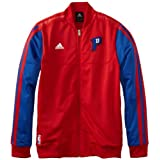 NBA Detroit Pistons On-Court Warm-Up Jacket Home Weekend, Medium, Red by adidas