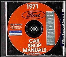 1971 Ford Mercury Lincoln Factory Repair Shop Service Manual Cd Comet Meteor Maverick Torino Mustang Thunderbird Mustang Grande Mach I Shelby Cobra Montego Cougar Continental Mark Iii 71