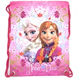 Disney Frozen Anna Elsa Swimming Sports Gym PE Bags School Drawstring Backpack Gifts for Kids Childrens Girls... by Disney Frozen