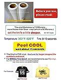 "12""x20"" IRON-ON Heat Transfer Vinyl for Cricut/Die QuicKutz Silhouette,Craft(WHITE)"