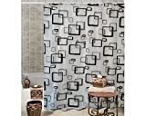 Pindia Fancy Graphical Design Bathroom Shower Curtain D1