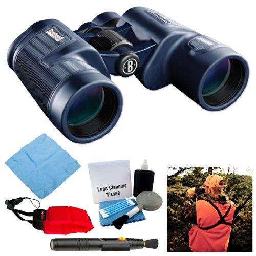Bushnell H2O Waterproof 10X42 Bak4 Porro Prism Binoculars With Bino Caddy Strap + Accessory Bundle