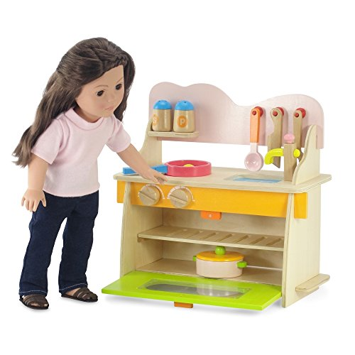 18 inch doll furniture kitchen set with oven stove sink and accessories fits american girl. Black Bedroom Furniture Sets. Home Design Ideas