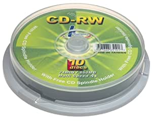 KHypermedia 74 Minute/650 MB 4x CD-RW Discs (10-Pack Spindle) (Discontinued by Manufacturer)