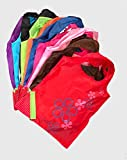 ECOly Pack of 5 Premium Nylon Reusable ECO friendly Shopping Bags Washable Tote Bags Foldable Compact Portable Strawberry Pouch Shoulder Bags For Shopping Gifts In Assorted Colors Stocking Stuffers
