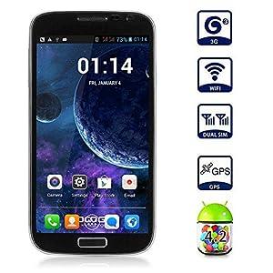 Boriyuan Android 4.2 3G Smartphone 4GB ROM Dual Core MTK6572W Dual SIM Dual Standby Mobile Phone GPS Cellphone WIFI WAP
