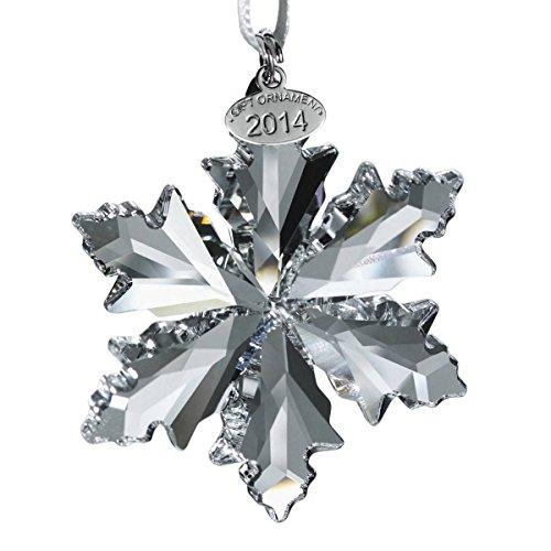 Swarovski 1125019 - Decorazione natalizia a forma di fiocco di neve, ed. 2014, 8 x 9 cm