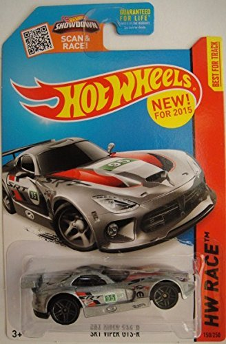 Hot Wheels, 2015 HW Race, SRT Viper GTS-R [Silver] Die-Cast Vehicle #150/250