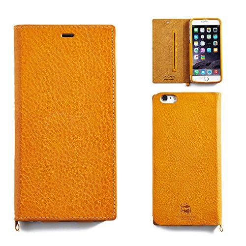 iPhone6sPlus iPhone6Plus ケース 手帳型 カバー 本革 レザー GALGANO BADALASSI CARLO / キャメル