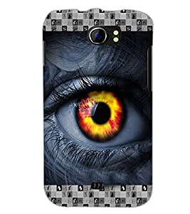 PrintDhaba Eye D-3615 Back Case Cover for MICROMAX A110Q CANVAS 2 PLUS (Multi-Coloured)
