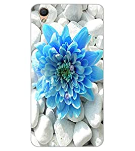 ColourCraft Beautiful Flower Design Back Case Cover for OPPO F1 PLUS
