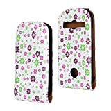 SuperStore_Electronics(TM) Stylish Printing Retro Style Durable Slim-Fit Flip PU Leather Protective Defense Stand Case Cover Compatible For Samsung S7710 Galaxy Xcover 2 (colorful many little flower)