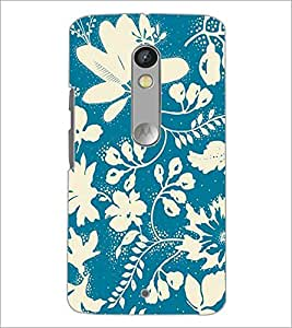 PrintDhaba Floral Pattern D-1472 Back Case Cover for MOTOROLA MOTO X PLAY (Multi-Coloured)