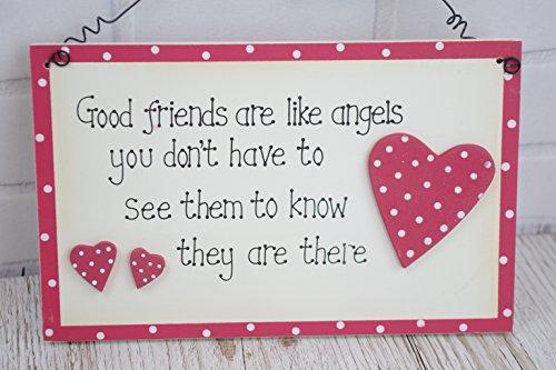 "Good Friends Are Like Angels-Targa in legno, regalo per Best Friend """