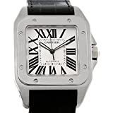 Cartier Santos 100 W20073X8 Mens Stainless Watch Unworn