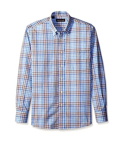 Kenneth Gordon Men's Plaid Button Down Sportshirt