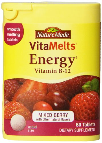 Nature Made Vitamelts 1500 Mcg Smooth Dissolve Tablet, Vitamin B-12, 60 Count (Nature Made Vitamelts Energy compare prices)