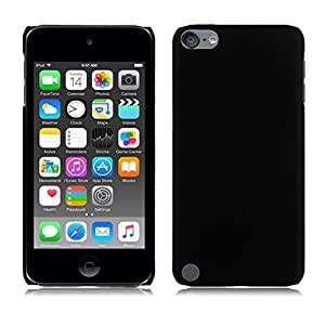 Plus Rubberised Matte Hard Case Back Case Cover For Apple iPod touch 5th generation - Black
