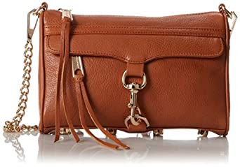 Rebecca Minkoff Mini MAC Convertible Crossbody,Almond,One Size