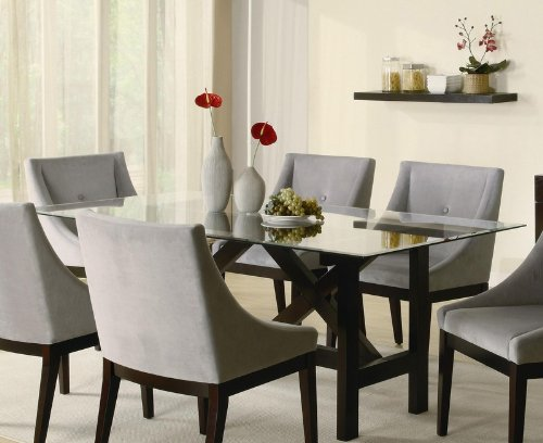Cheap Cappuccino Wood Glass Top Dining Table – Coaster 102231 (VF_AZ00-76548×36122)