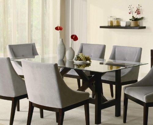 Cheap Cappuccino Wood Glass Top Dining Table – Coaster 102231 (VF_AZ00-76548×36122)