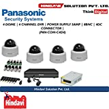Panasonic Hl1104K 4Ch DVR, 4(HFN103L) Dome Camera (With Power Supply,Connectors)