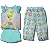 "Little Jammies Girls Disney Fairies ""Tinkerbell"" Pajama Set (3 Piece)"