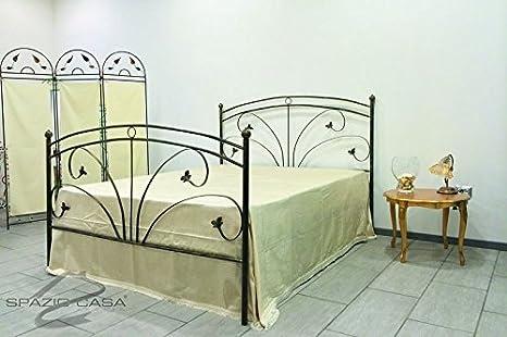 Lit en fer forgé Mya Matrimoniale ( 165 x 195 cm ) Bronzo anticato