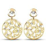 Silvantra Princess Choice Brass Stud Earring