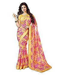 My online Shoppy Georgette Saree (My online Shoppy_84_Yellow)
