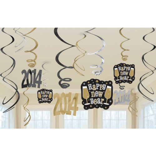 swirl decoration value pack 2014 black/silver/gold